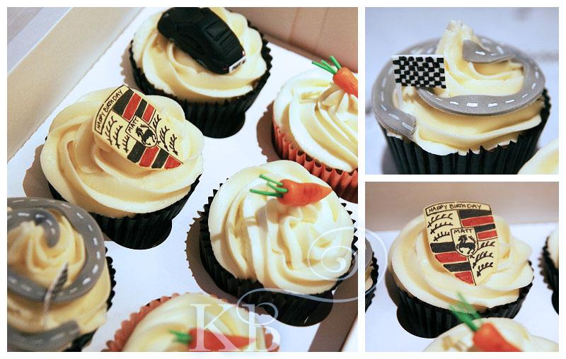 Porsche cupcakes